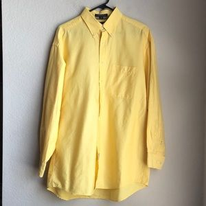 Tommy Hilfiger Yellow Button Up Dress Shirt